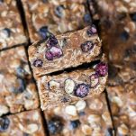No Bake Almond Blueberry Oatmeal Bars