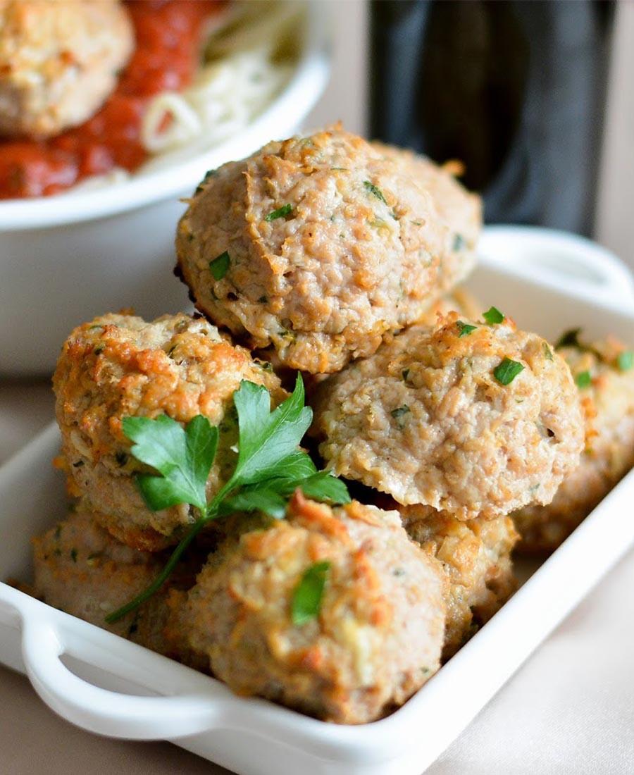 Tuscan Herb & Feta Turkey Meatballs
