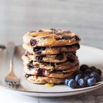 Homemade Blueberry Chia Whole Wheat Pancakes
