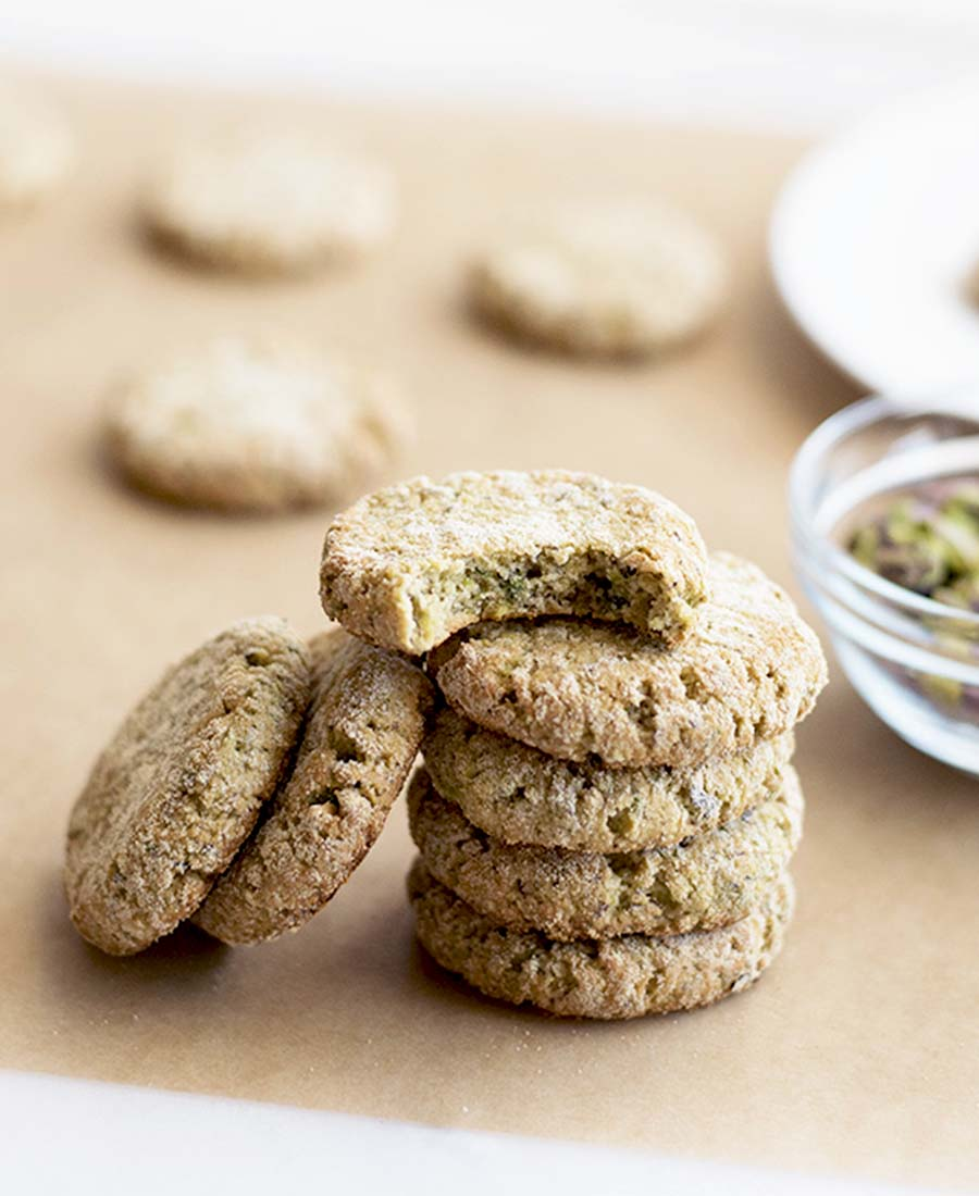 Powdered Pistachios Protein Cookies