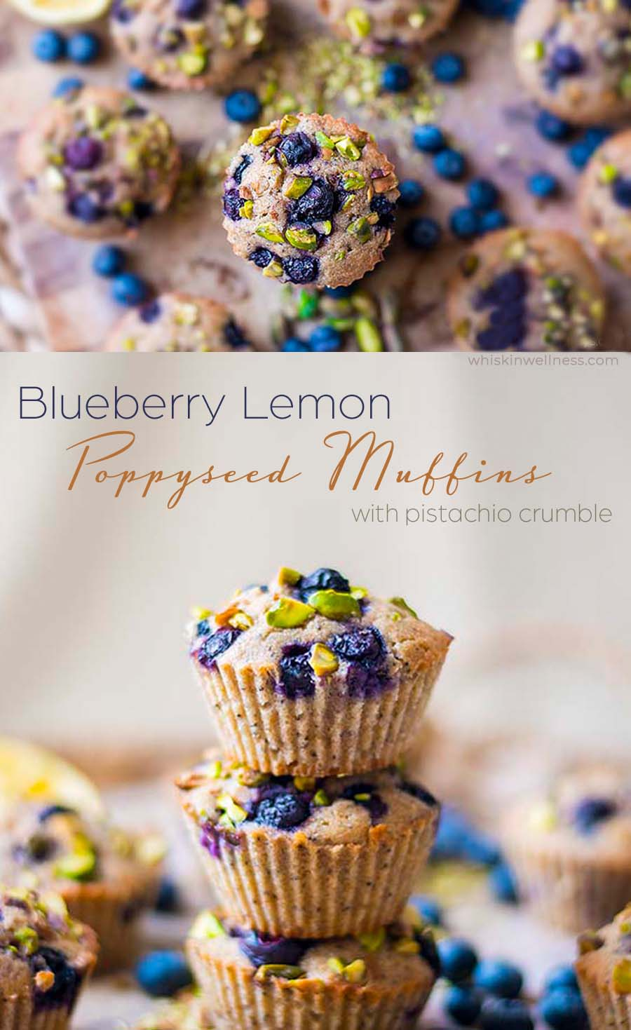 blueberry lemon poppy seed muffins with pistachio crumble.pinterst.wiw