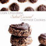 dark chocolate salted caramel oatmeal cookies pinterest.wiw