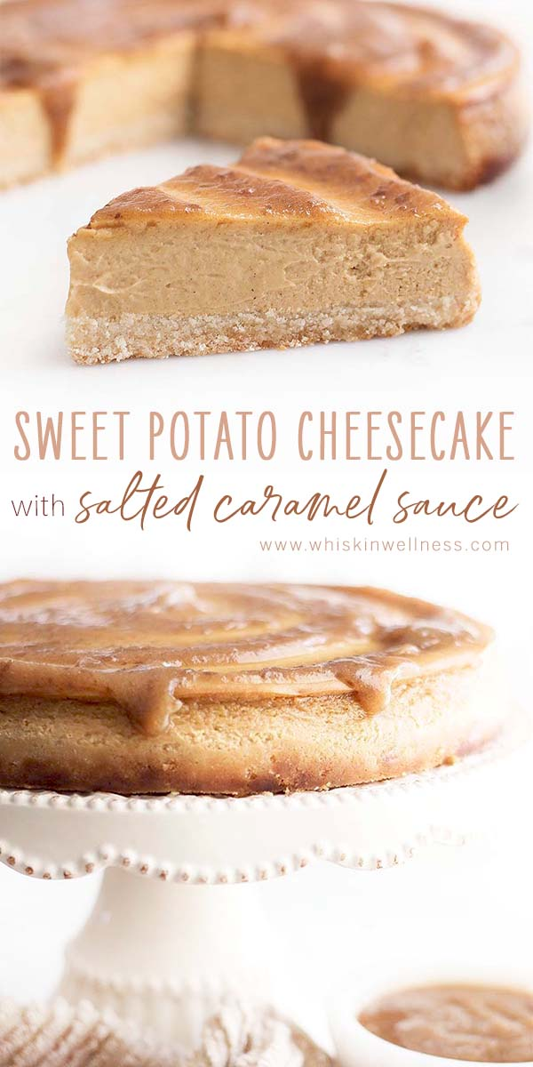 sweet.potato.cheesecake.salt .caramel.wiw .pinterest