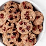 Festive Cranberry Orange Shortbread Cookies