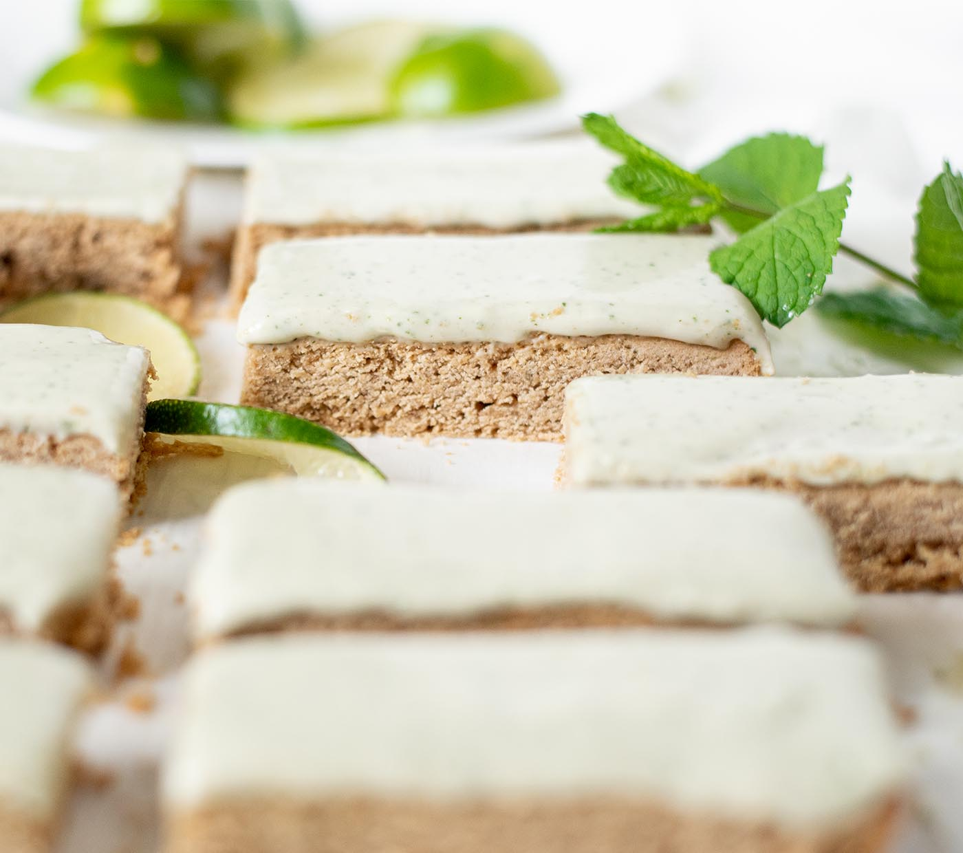 gluten free lime sugar cookie bars with homemade mint icing 2