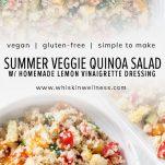 simple summer veggie quinoa salad pinterest wiw