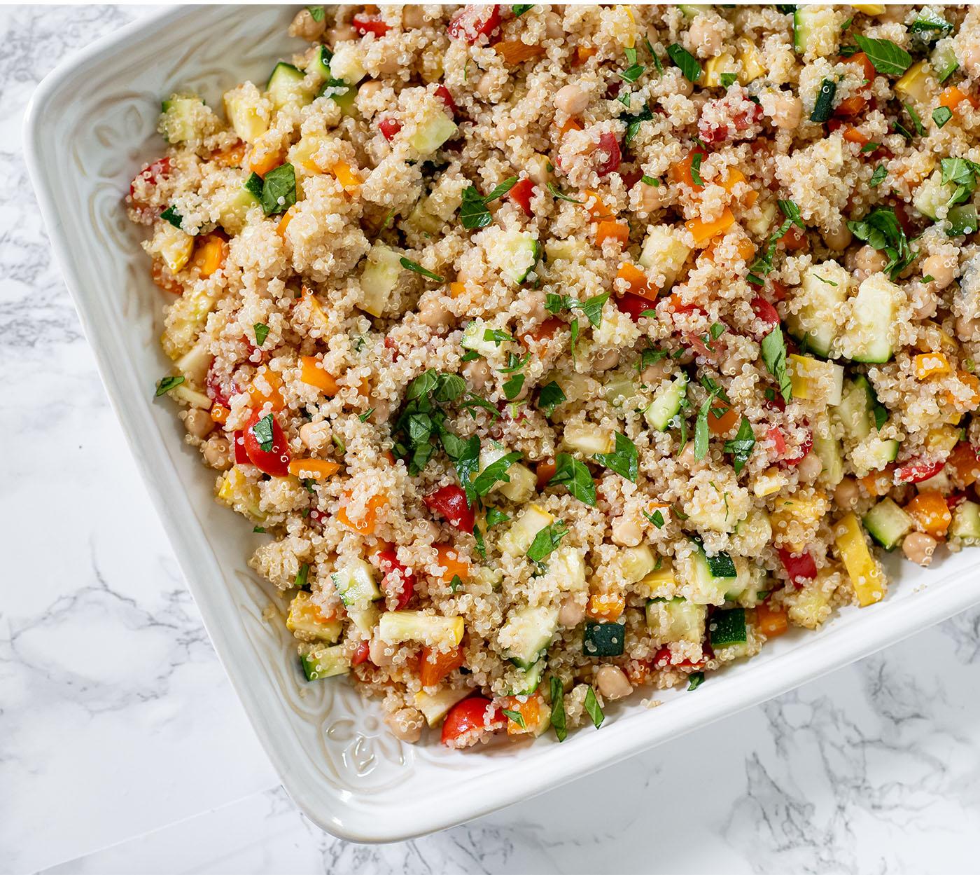 simple summer veggie quinoa salad wiw 3