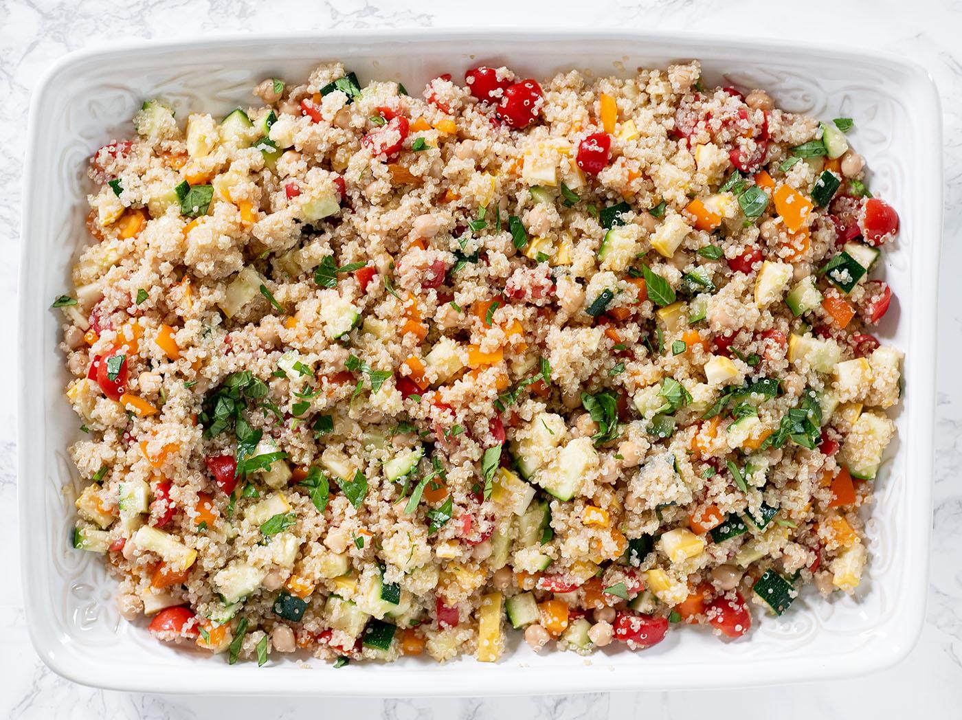 simple summer veggie quinoa salad wiw 4