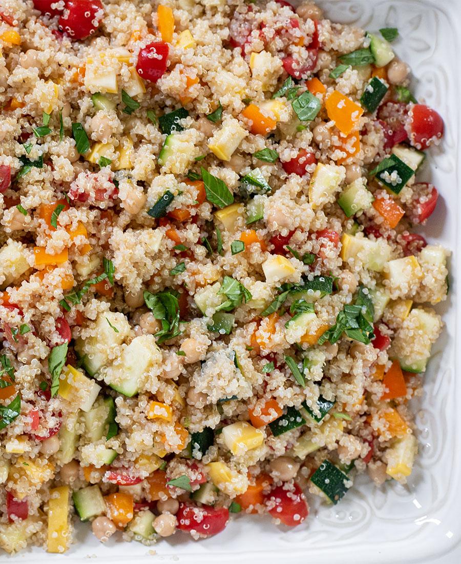 simple summer veggie quinoa salad wiw featured