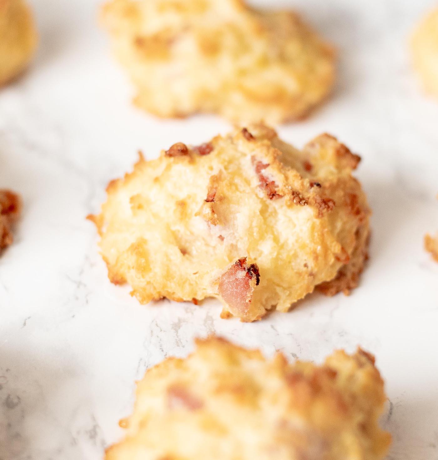 gluten free cheesy ham drop biscuits whisk in wellness 4