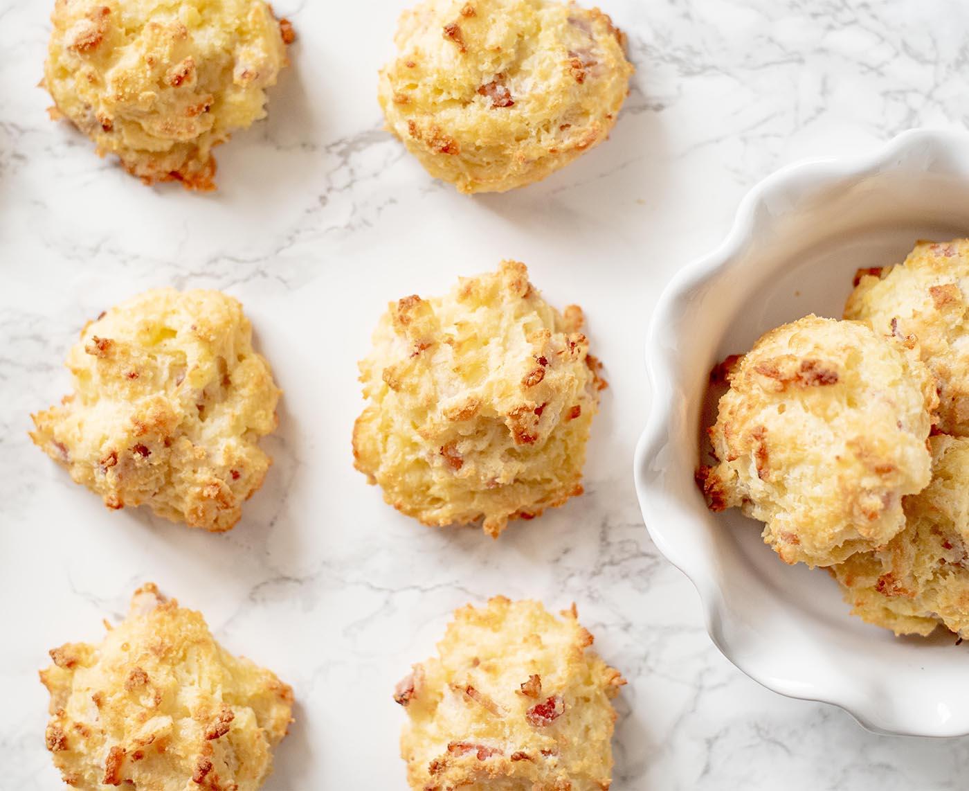 gluten free cheesy ham drop biscuits whisk in wellness7