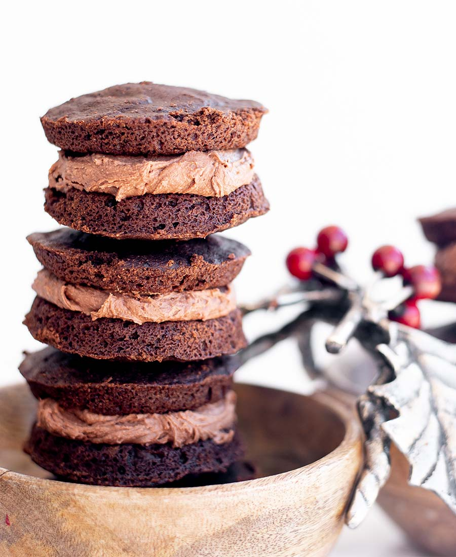 Gluten-Free Double Chocolate Peppermint Whoopie Pies