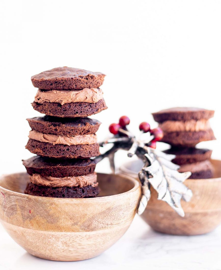 gluten free double chocolate peppermint whoopie pies whisk in wellness 2
