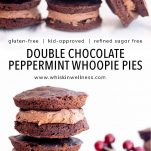 gluten free double chocolate peppermint whoopie pies whisk in wellness pinterest