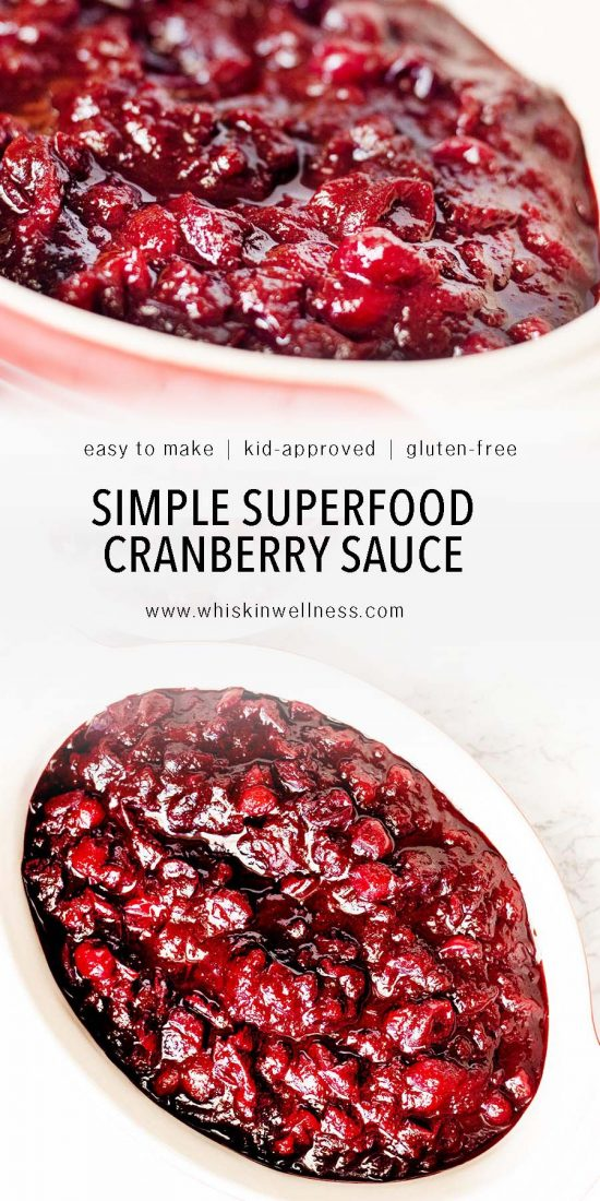 simple superfood cranberry sauce whisk in wellness pinterest